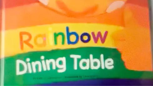 绘本配音-Rainbow Dining Table